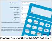 Can you save with Hach LDO solution?